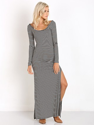 Amuse Society Camille Dress Black Sands Stripe