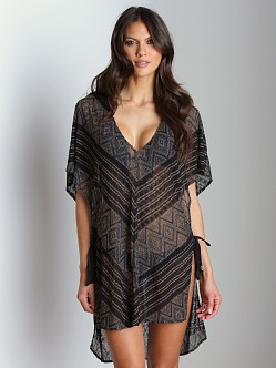 Vitamin A Gold Talitha Tunic Cover Up Black/Gold