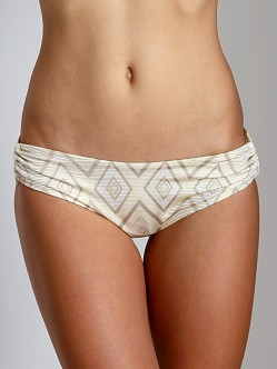 Vitamin A Gold Stardust Pin Up Star Bikini Bottom White