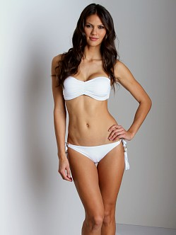 Vitamin A Gold Eco Tulum Bikini Bottom White