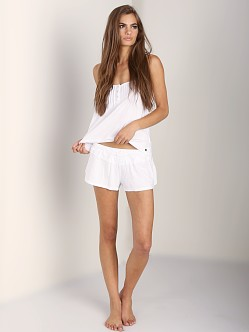 Juicy Couture Modal Eyelet Cami White