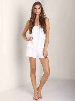 Juicy Couture Modal Eyelet Short White