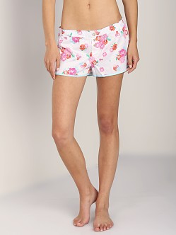 Juicy Couture Satin PJ Short White Confetti