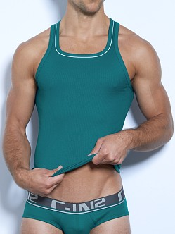 C-IN2 Pop Colors Square Neck Tank Top Raging Teal