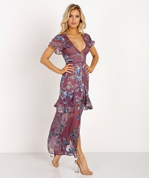 9e1b7ed07dc22 For Love & Lemons Cleo Floral Maxi Dress CD1653B-H017 - Free Shipping at  Largo Drive