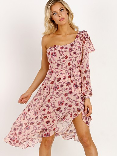 For Love & Lemons Agnes One Shoulder Dress