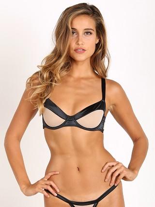 Beach Bunny Love Haus Stripe Illusion Unpadded Bra Black/Nude