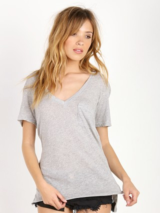 WILDFOX Essential V Neck Tee Heather