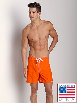 Sauvage Low Tide Nylon Swim Trunk Orange
