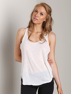 LNA Clothing Raw Edge Tank White