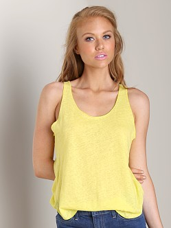 LNA Clothing Raw Edge Tank Yellow