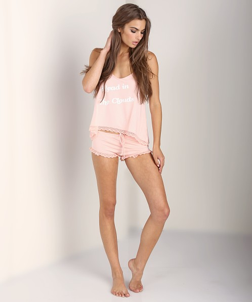 WILDFOX Cami Set Head in Clouds/Send Me an Angel Peach Peony