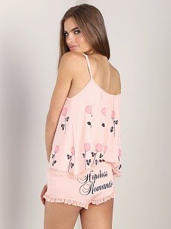 WILDFOX Cami Set Only You/Hopeless Romantic Peach Peony