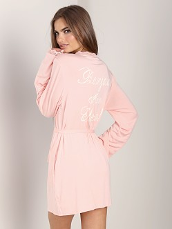 WILDFOX Never Get Dressed Robe Mon Cheri Peach Peony