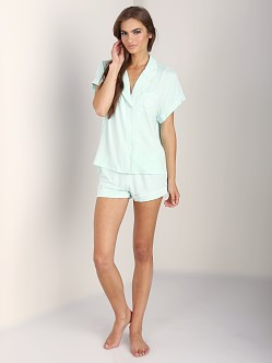 WILDFOX PJ Short Set Sleeping In Heavenly Blue