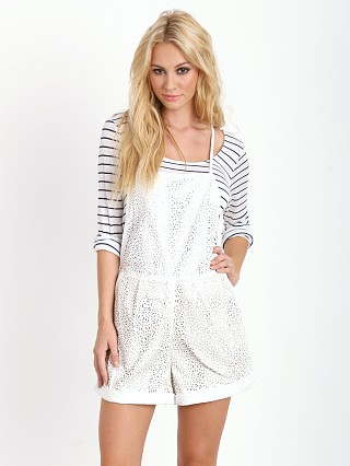 Model in ivory Finders Keepers Beautiful Mind Playsuit