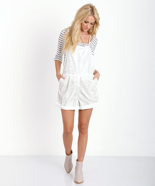 Finders Keepers Beautiful Mind Playsuit Ivory