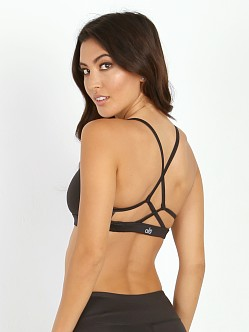 alo yoga Westerly Bra Black Glossy