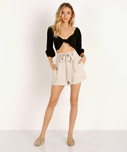 bfddfb8dd0289 Show Me Your Mumu Hadley Shorts Cream Linen MR8-1668 - Free Shipping at Largo  Drive