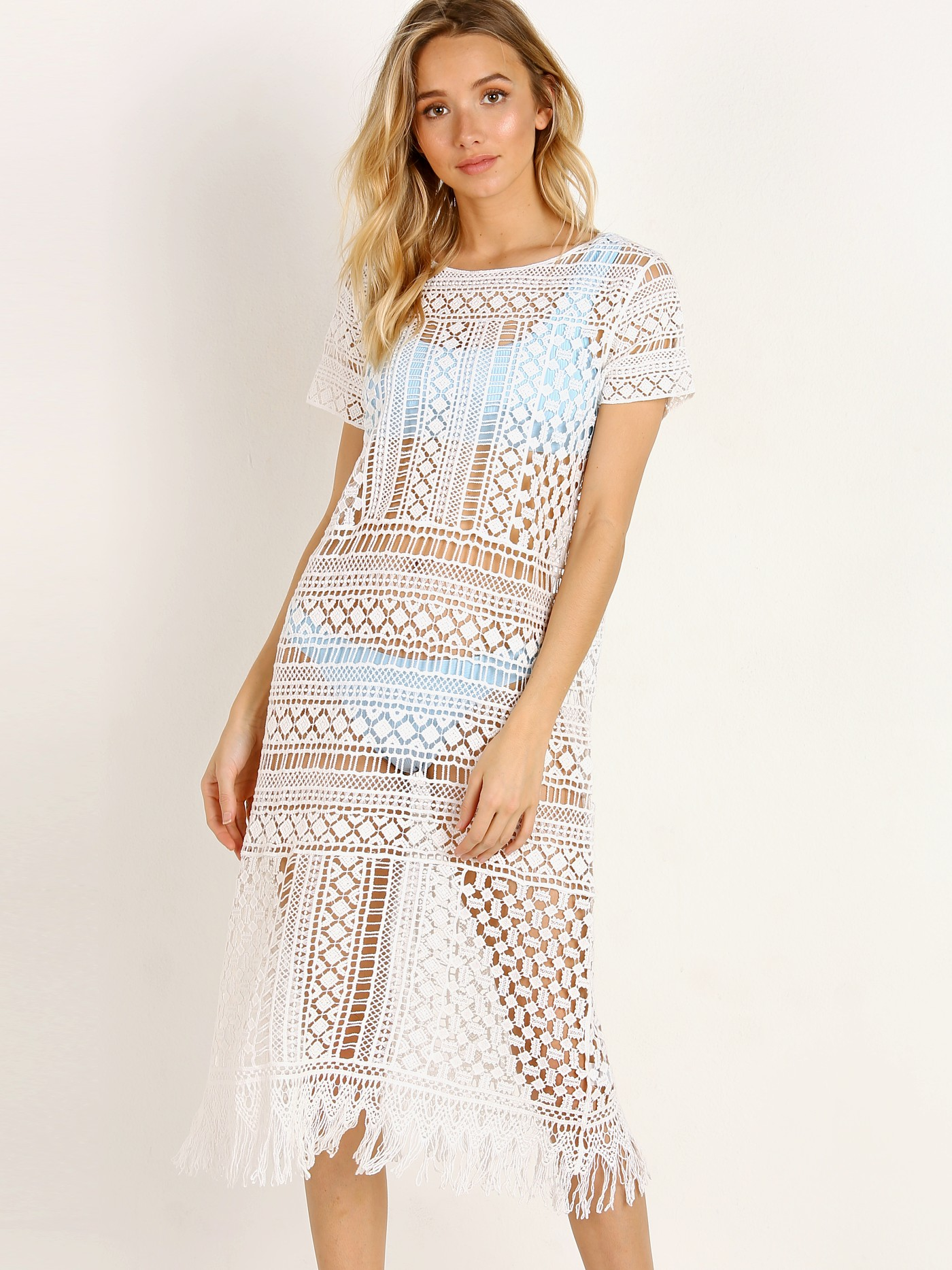 df003643b3740 Show Me Your Mumu Clea Cover Up White Crochet MR8-1164 - Free Shipping at Largo  Drive