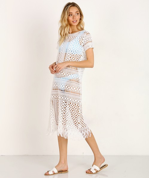 Show Me Your Mumu Clea Cover Up White Crochet Mr8 1164 Free
