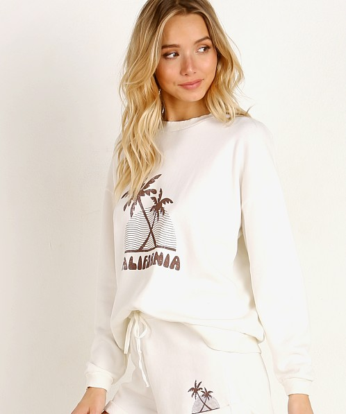 LNA Clothing Retro California Sweatshirt Lily White