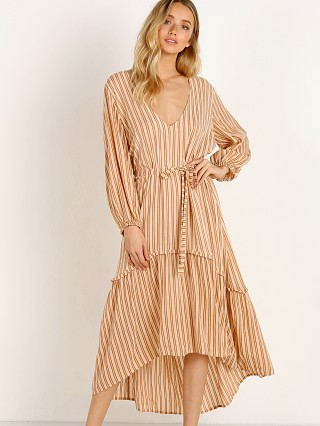 Faithfull the Brand Matilda Peasant Dress Almeria Stripe Pink