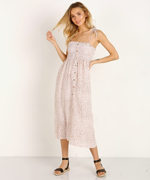 Faithfull the Brand Suki Midi Dress Rae Floral Pink
