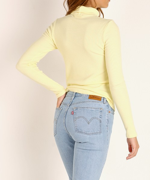 LACAUSA Sweater Rib Turtleneck Buttermilk