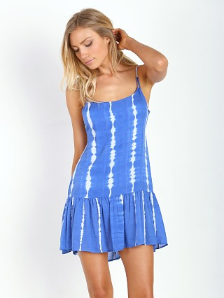 Indah KARIMA Mini Dress Garis Blue
