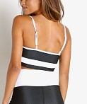 Beach Riot Eva Sports Top Black and White, view 4