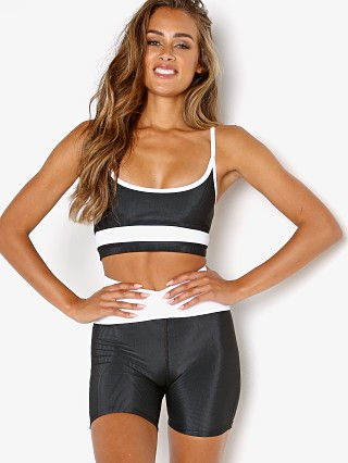 Model in black and white Beach Riot Eva Sports Top