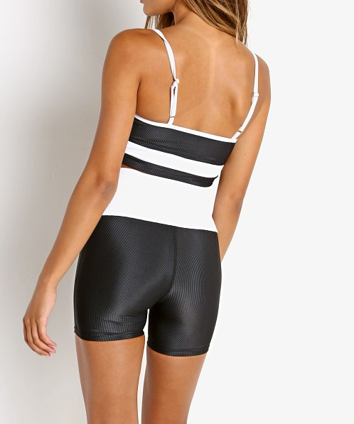 Beach Riot Cora Short Black and White