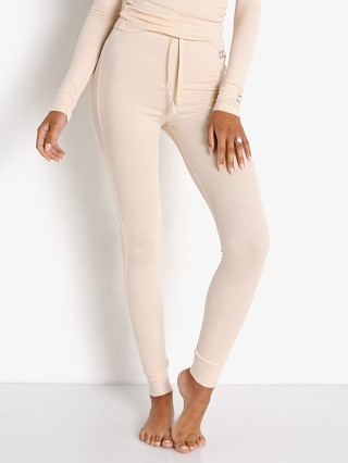 Model in blush Les Girls Les Boys Fine Rib Lounge Pant