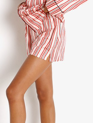 Model in cream Les Girls Les Boys Stripes Boxer