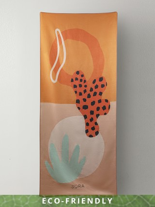 SORA Recycled Beach.Yoga.Everything Towel Coral