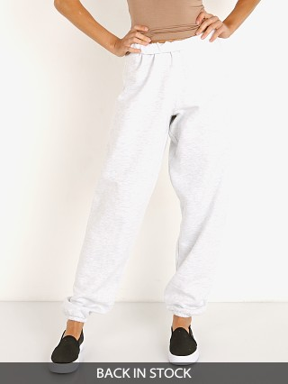 Model in pearl Joah Brown Oversized Jogger