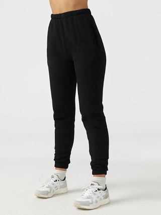 Model in black Joah Brown Empire Jogger