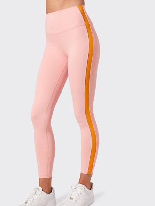 Model in pink/nectarine Splits59 Clare High Waist 7/8 Legging