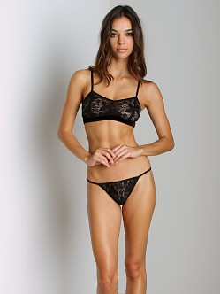 Only Hearts Sara Lace String Bikini Black