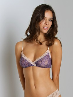 Only Hearts Fall Flowers Bralette Plum Print