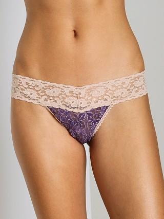 Only Hearts Fall Flowers Must Have Thong Plum Print