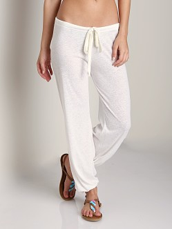 Eberjey Heather Cropped Pant Cloud