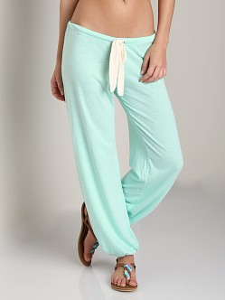 Eberjey Heather Cropped Pant Mint Glow