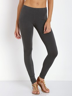 Splendid Houndstooth Legging Gunmetal