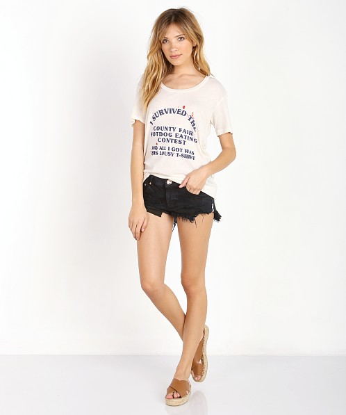 WILDFOX Hot Dog Eating Contest Eastern Crew Vintage Lace