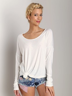 Free People Rain Drop Tee White