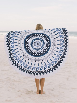 The Beach People The Majorelle Round Towel