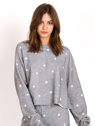 WILDFOX Football Star Sweater Heather