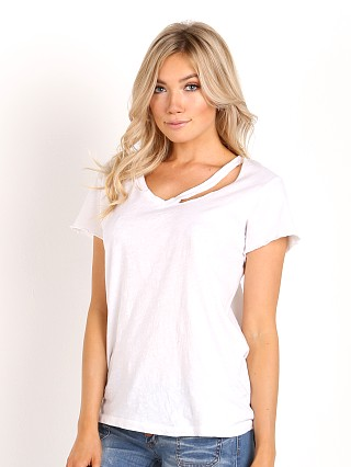 LNA Clothing Fallon V Neck White